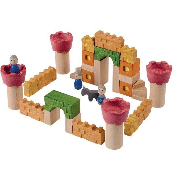 jouets chateau fort chevaliers en bois