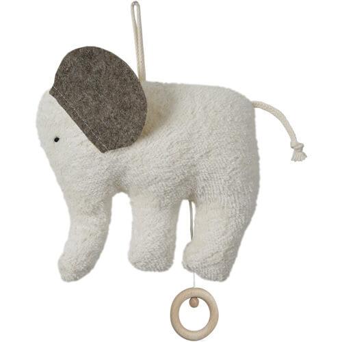 Doudou Efie Elephant Boite à Musique - Doudou Bio Kba