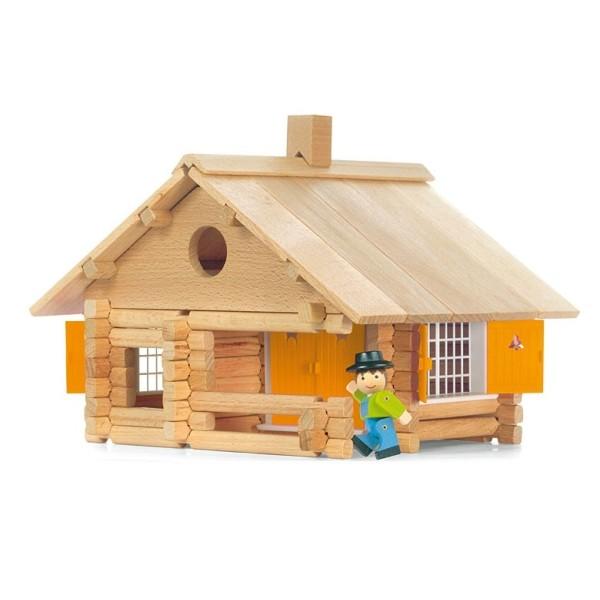 jouet jeujura maison en rondins 135pcs ekobutiks l ma. Black Bedroom Furniture Sets. Home Design Ideas