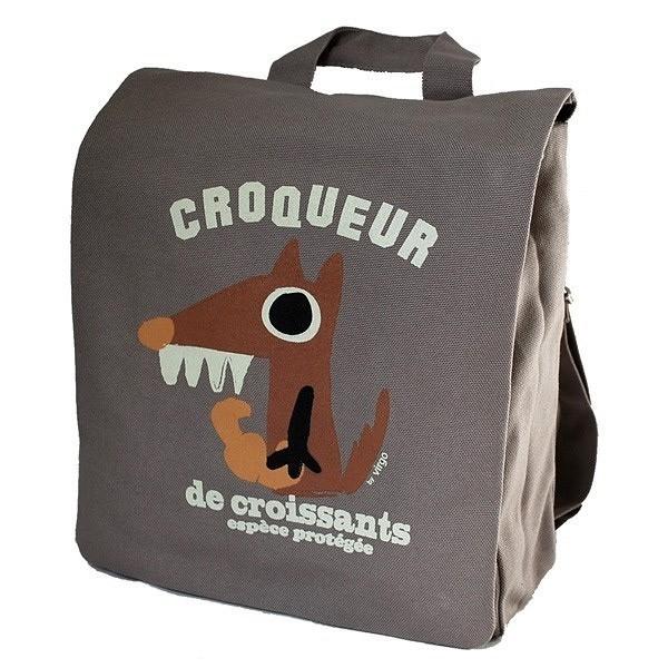 Coq en p te cartable maternelle loup gris mibo ekobutiks l ma boutique cologique - Image cartable maternelle ...