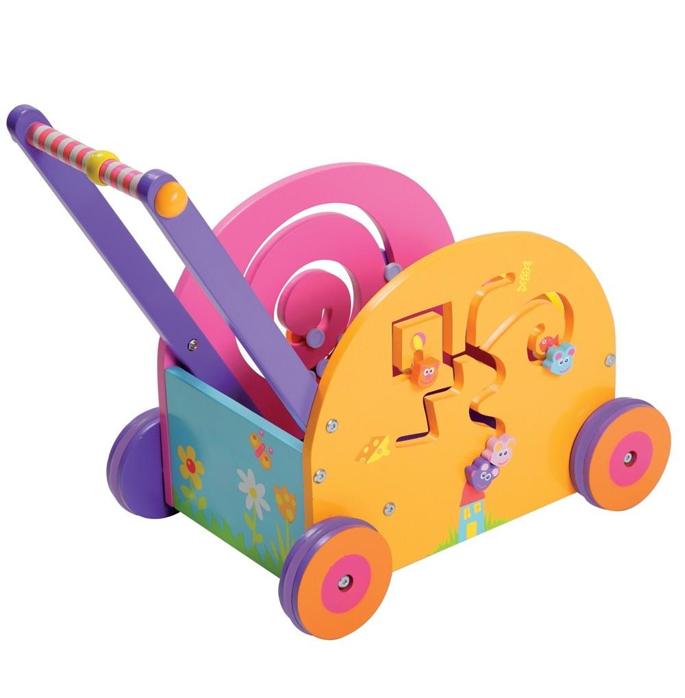 chariot dactivit s trotteur multi activit s en bois marcheur chariot de marche chariot pousser. Black Bedroom Furniture Sets. Home Design Ideas