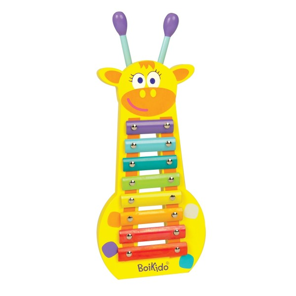 Instrument de musique xylophone girafe boikido ekobutiks for Construction xylophone bois