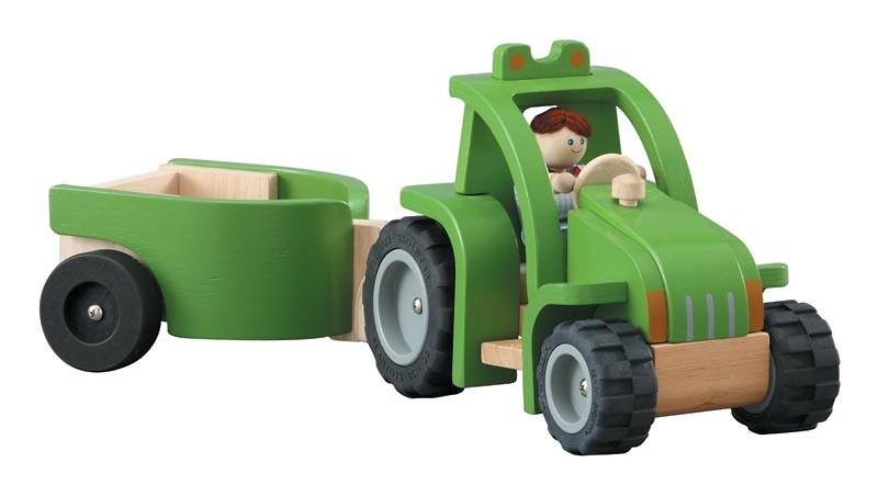 tracteur plantoys avec remorque ekobutiks l ma boutique cologique jouets en bois jouets plantoys