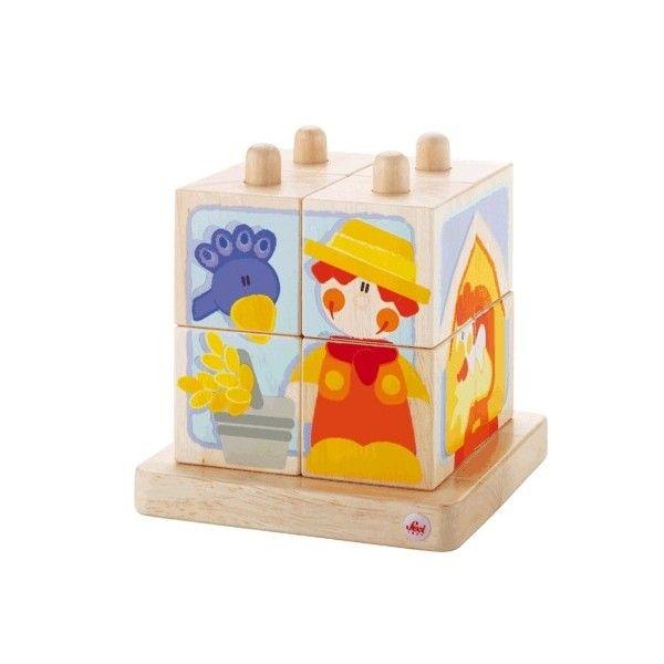 ekobutiks l butik play jouets en bois l jouets cologiques empilable cubes ferme sevi 1831. Black Bedroom Furniture Sets. Home Design Ideas