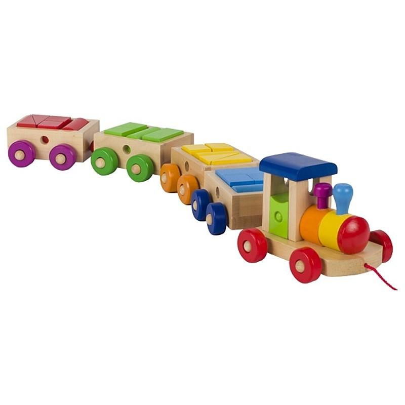Philadelphia Goki Bois Train Colorées Jouets De Formes En Wagon Ye9WDIEH2