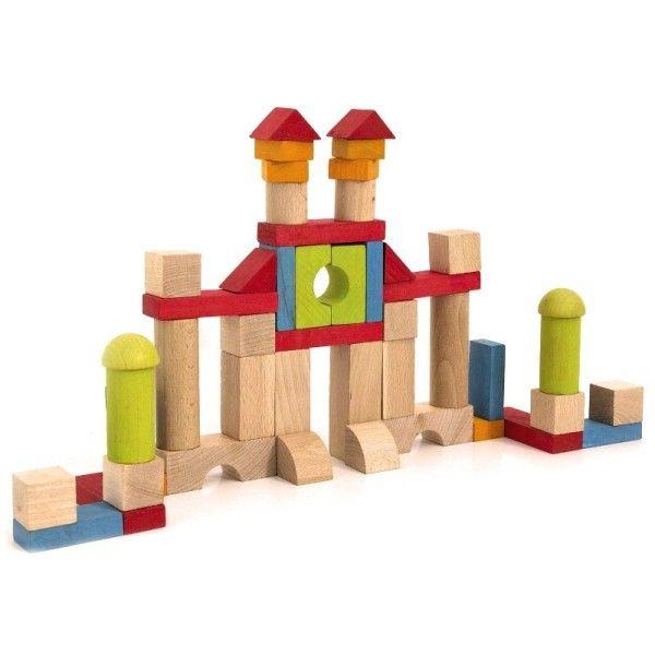 Jouet en bois blocs de construction en bois jeujura ekobutiks l ma boutique cologique for Construction cube bois