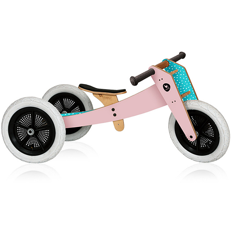 Wishbone Bike  draisienne en bois Rose - Tricycle