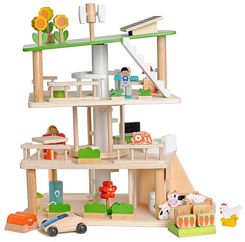 EverEarth Maison de poupée en bois écologique & durable