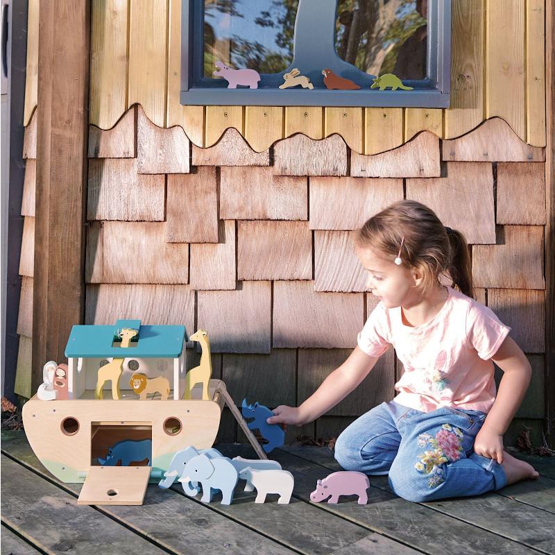 Les jouets en bois d'hévéa