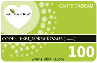 Carte Chèque Cadeau Ekobutiks