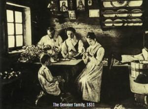 Histoire-Jouet en bois Sevi Famille Senoner vers 1831