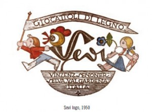 Histoire-Jouet en bois Logo Sevi  vers 1950